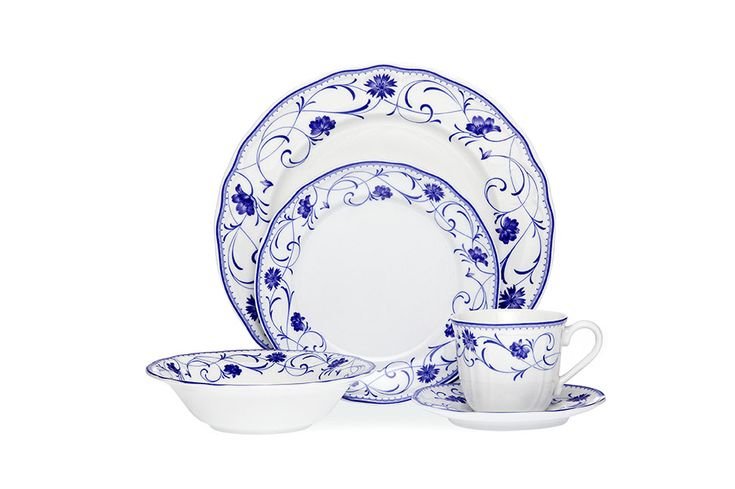 Noritake Rhapsody Blue casual dinner set <3<3