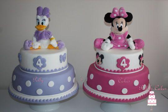 Daisy Duck & Minnie Cakes - Cake by pollyscakes - CakesDecor