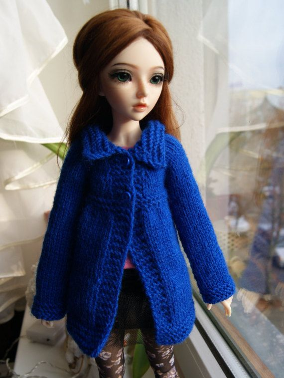 Knitted cardigan for Minifee MSD BJD 1/4. by CocoDolls on Etsy
