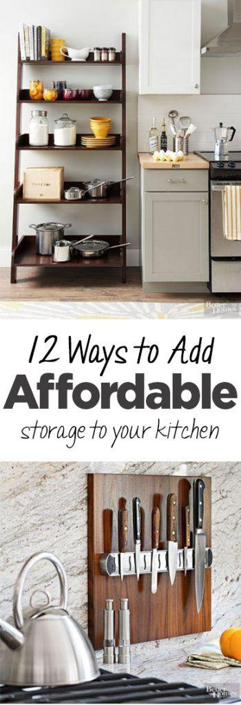 Affordable Kitchen Remodel, DIY Kitchen Storage, Kitchen Storage  Inspiration, Popular Pin, Kitchen