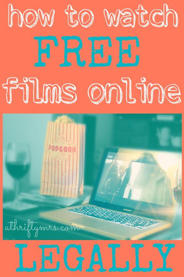 Watch free films online - legally