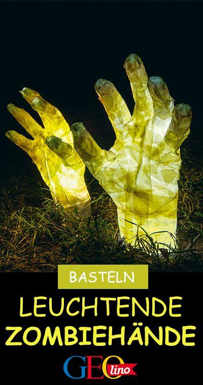 Así es como haces manos brillantes de zombies   – Basteln mit Kindern