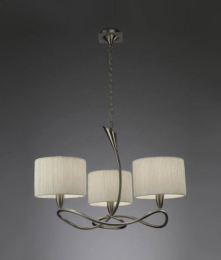 Lámpara blanco níquel LUA 3 luces - La Casa de la Lámpara