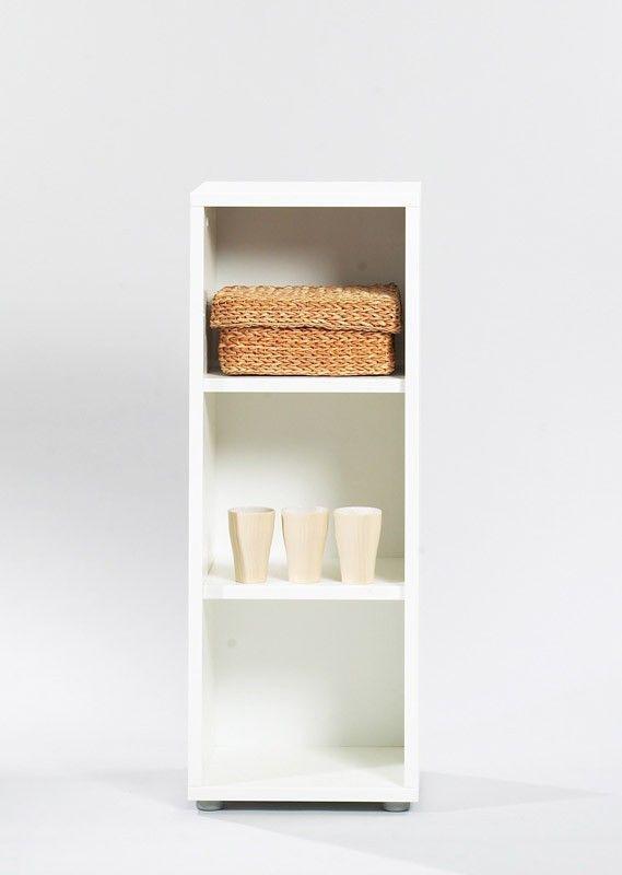 Bocca Reol - Hvid reol med melamin overflade. Dette produkt kan sammensættes med mange af Boccas andre moduler. Ekstra hylder kan tilkøbes.&nbsp* 2 løse hylder, der kan justeres&nbspDette produkt er designet og produceret i Danmark. Produktet leveres usamlet.