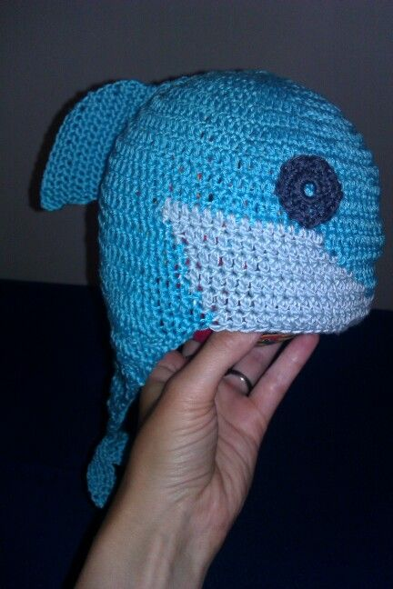 Crochet hat dolphin