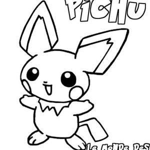 Little Pikachu Pokemon Coloring Pages Bulk Color Colorear