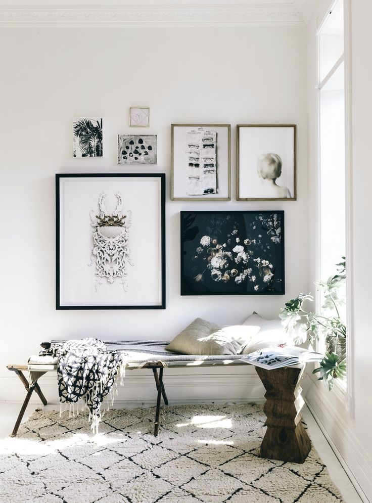 Spring Clean your walls! Add a piece of art – refresh your wall for spring.  A newly created gallery wall & nook in our Toronto home. A mix of art by me, my kiddos. Gorgeous 'Dutch love' floral art by Ashley Woodson Bailey.