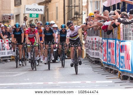ASSISI, PERUGIA, ITALY - MAY 15: Mark Cavendish, Team Sky, at the end of the 10th stage of 2012 Giro d'Italia on May 15, 2012 in Assisi, Perugia, Italy