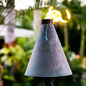 Tiki Torches - Tropical Plants Retreat - Sunset Mobile.com