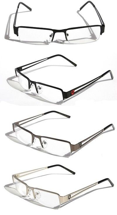 b4703d7a18d Reading Glasses 67670  Men Khan Rectangular Half Rimless Metal Reader  Reading Glasses Sophisticate Look -  BUY IT NOW ONLY   11.95 on eBay!