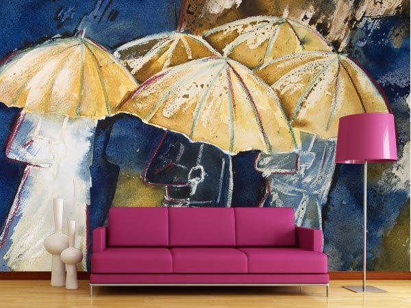 Ταπετσαρία Τοίχου DigiWall - ΕΡΓΑ ΤΕΧΝΗΣ : Ομπρέλες στη βροχή