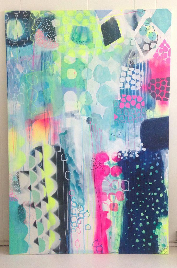 Abstract painting by Mette Lindberg www.mettesmaleri.dk