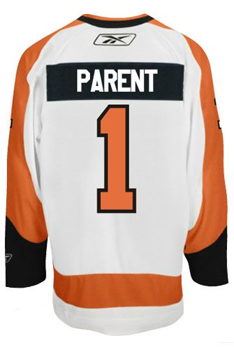 ... Philadelphia Flyers VINTAGE Bernie PARENT 1 Official Away Reebok Premier  Replica NHL Hockey Jersey ... 4410b92e3