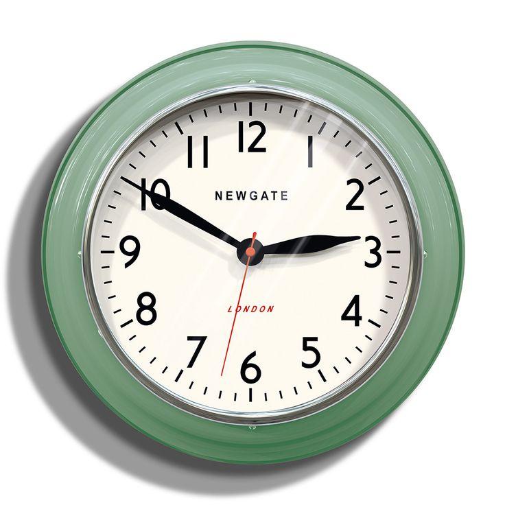 Buy Newgate Clocks The Cookhouse Wall Clock - Green | Amara
