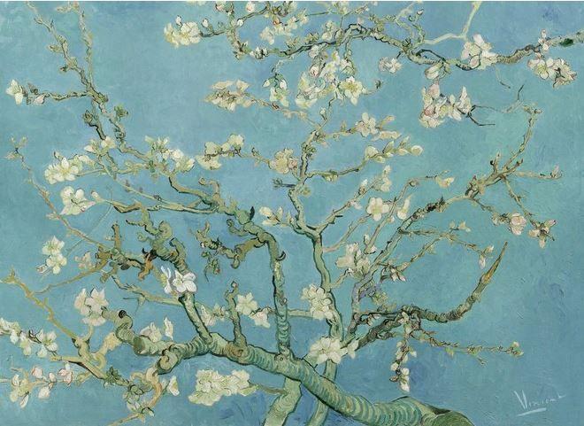 Vincent van Gogh behang amandelbloesem http://www.verfenwand.nl/assortiment/behang/bn-wallcoverings/3781