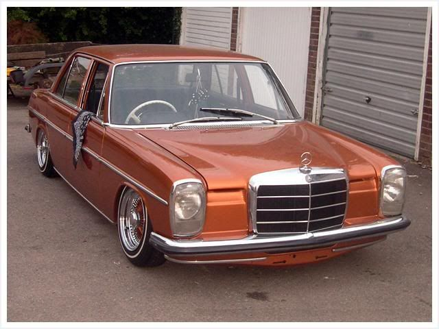 lowrider mercedes w115, different, but cool