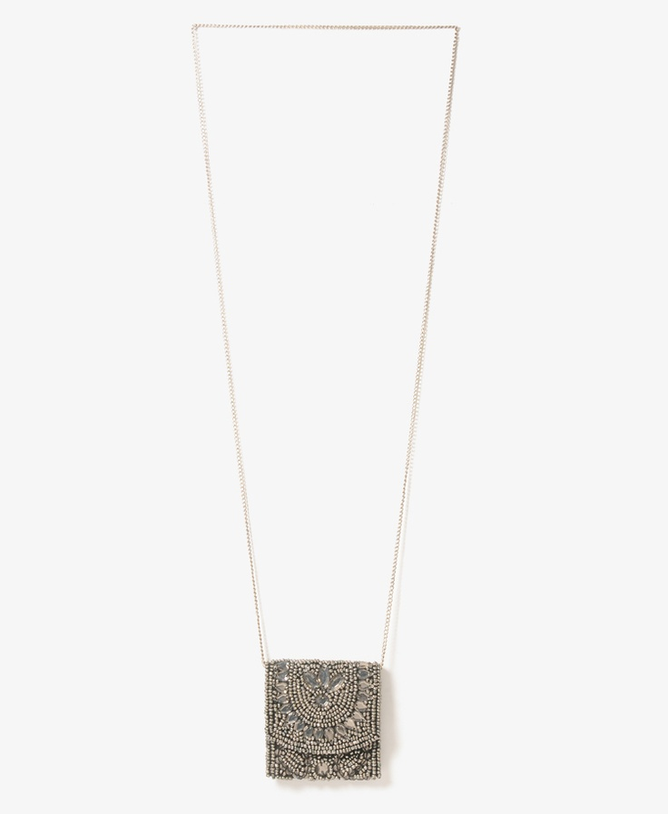 Beaded Pouch Necklace | FOREVER21 - 1000046002