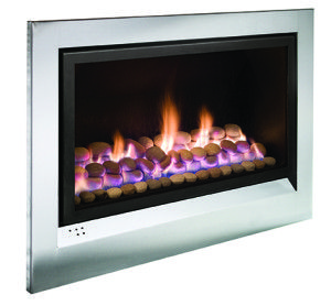 Heatmaster Enviro Gas Fireplace with Stainless Steel Fascia