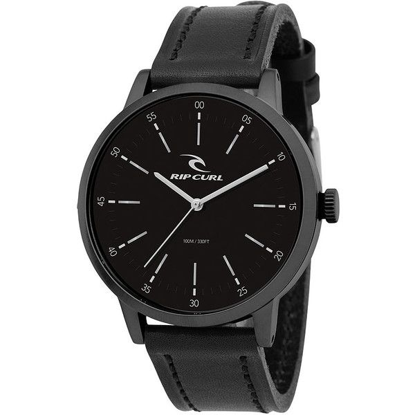 Rip Curl Drake Midnight Leather Watch (200 AUD) ❤ liked on Polyvore featuring men's fashion, men's jewelry, men's watches, analog watches, blue, mens watches, watches, mens analog watches, mens blue watches and mens waterproof watches