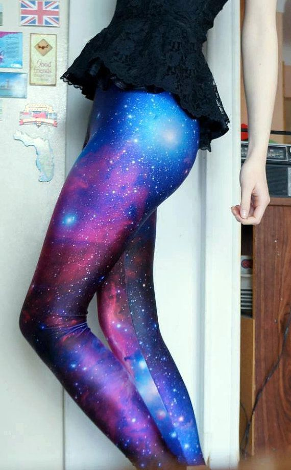 Galaxy leggings by RobertaBasics on Etsy