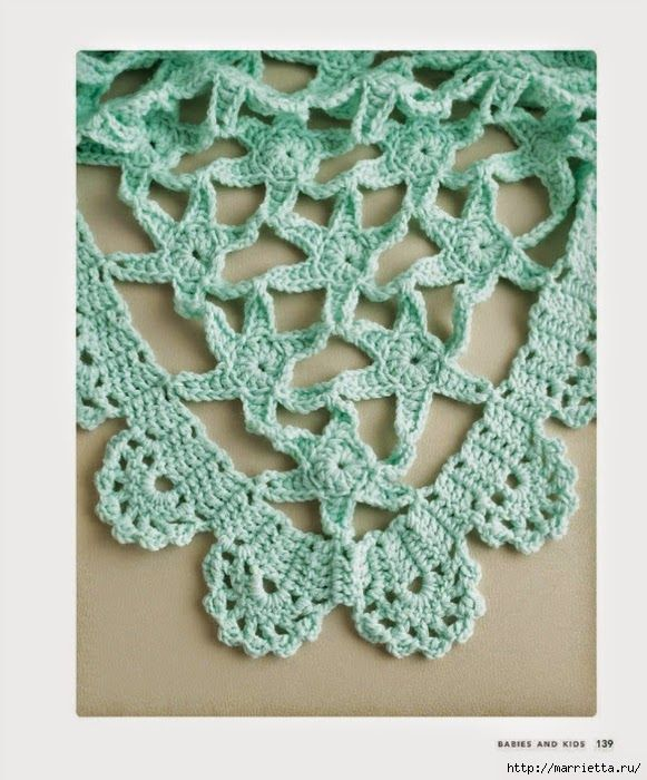 Bell simo chal tejido con ganchillo con motivo de - Esquema punto estrella crochet ...