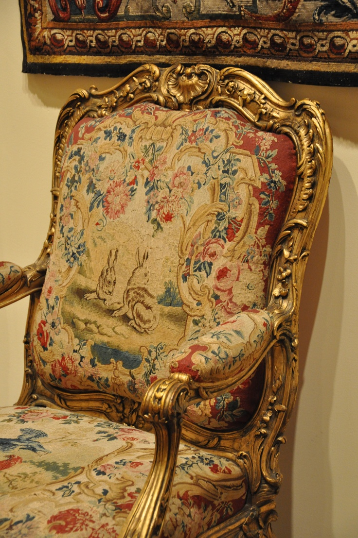 Auction company 751 walnut victorian marble top parlor table ca 1870 - Needlework Covered Chair Pair Of Hares