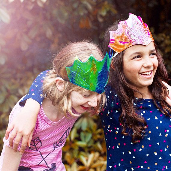 Dragon Crowns, I've seen these in person and they are stunning - so bright, brilliant, and shiny, I think kids of all ages will love them (even big grown up kids like me)