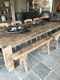 25 beste idee n over grote eettafels op pinterest boerderij tafels oogst tafels en grote - Zeer grote eettafel ...