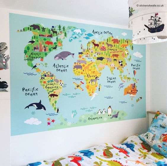 The 25 best canada in world map ideas on pinterest state of buy now a fantastic world map wall sticker made from high quality fabric wall sticker material fabristick the map is in beautiful bright colours and gumiabroncs Choice Image