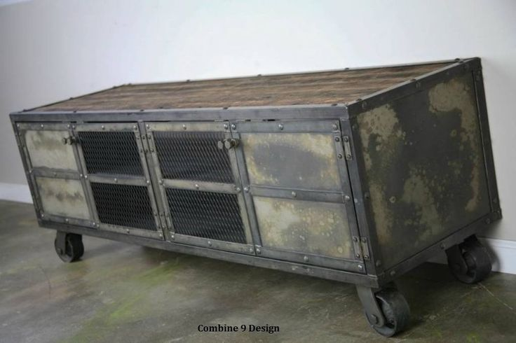 Sideboard Industrial Look ~ Details about vintage industrial style media console