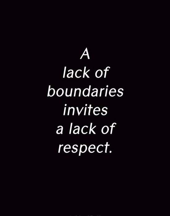 A lack of boundries