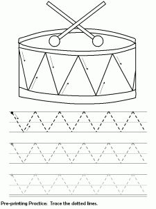 drum worksheet for kids