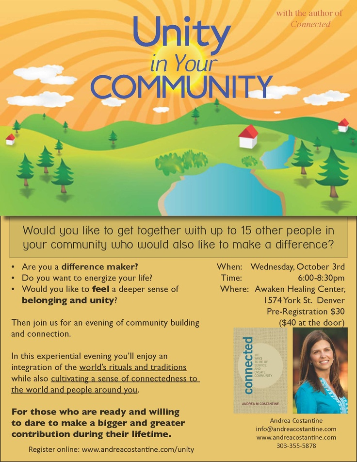 Upcoming workshop in Denver for community seekers and difference makers! 10-03-12
