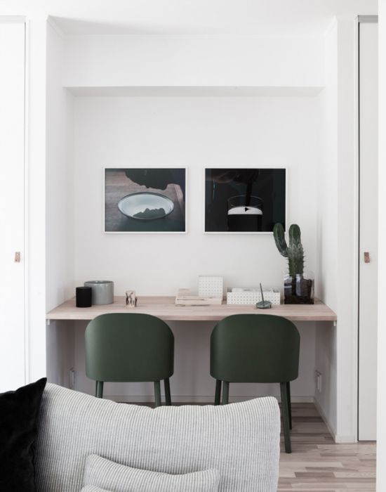 7 INSPIRATIONS FOR A MINIMAL WORKSPACE IN A NOOK