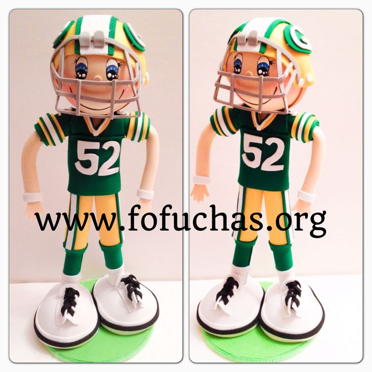 Green Bay football fofucho doll. Handmade doll made using foam sheets. Can make a perfect decor for any boys room, or Man's cave. One of a kind doll 100%handmade. Visit us at www.facebook.com/fofuchashandmadedolls or www.fofuchas.org #GreenBay #Football #fofuchas