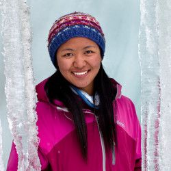 "Meet Dawa Yangzum.  ""I hail from Rolwaling in Nepal, and have been working in the tourism field for over eight years now. In spring 2012, I had the honour to climb Mt. Everest, my claim to fame being using a very old style pick axe. My next expedition coming up is Cho-Oyu and K2 this year, and if successful, will make it three 8000+ peaks."""
