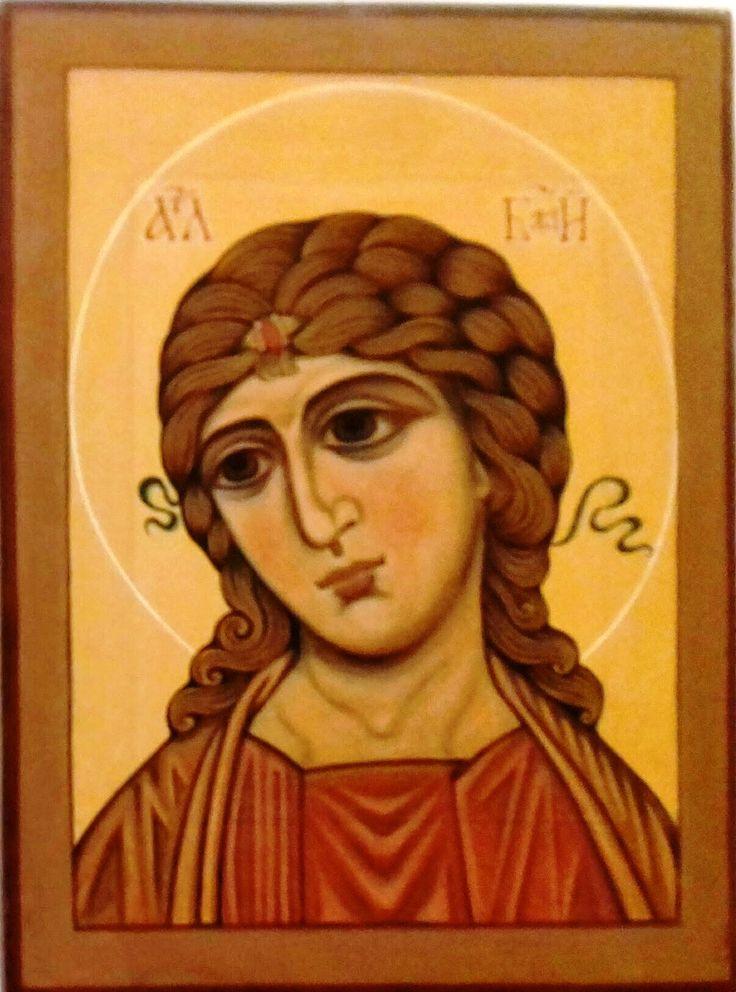 Aranyhajú  arkangyal Oroszország XII. század