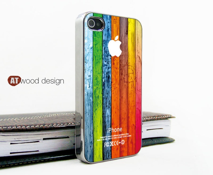 light silvery iphone 4 case iphone 4s case iphone 4 cover Iphone colorized wood texture image unique design printing. $18.99, via Etsy.
