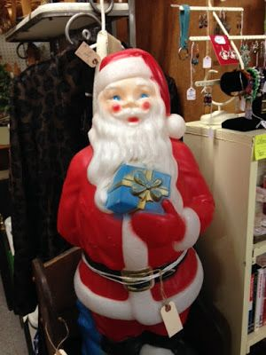 Vintage Christmas Santa Claus blowmold at Scranberry Coop