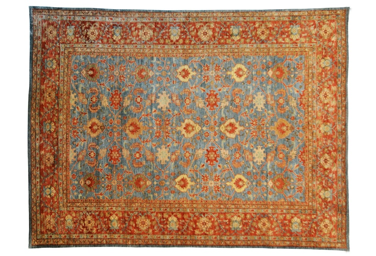 Beautiful Blue And Orange Persian Rug Dream Living Room