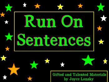 best 25 run on sentences ideas on pinterest teaching writing sentences according to. Black Bedroom Furniture Sets. Home Design Ideas