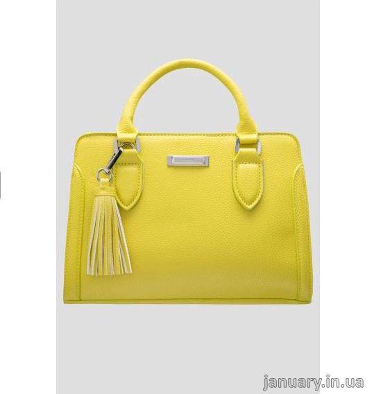 Сумка ORSAY Цвет: лимонно-желтый Акционная цена: 619 грн Длина*ширина*глубина: 28,5*20,5*12 см. Материал: искусственная кожа (100% полиуретан)