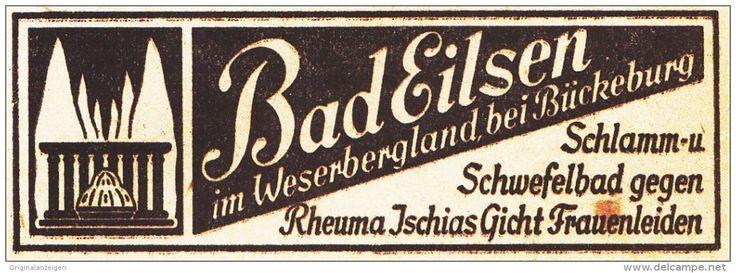 Original-Werbung/ Anzeige 1936 -  BAD EILSEN   - ca. 80 x 30 mm