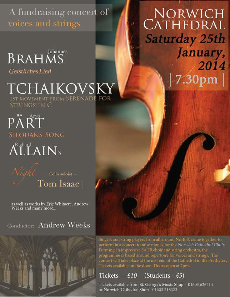 Norwich Cathedral - Voices & Violins Concert @norwichcq