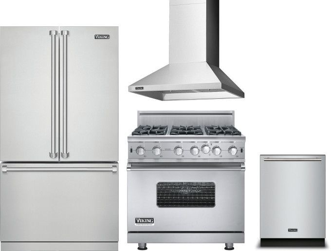 Viking Vireradwrh539 4 Piece Kitchen Appliances Package With Fre
