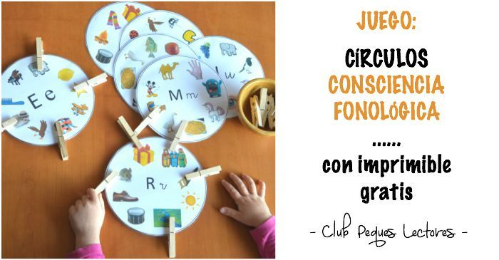 Club Peques Lectores: cuentos y creatividad infantil: Juego Círculos de conciencia fonológica, para pone...