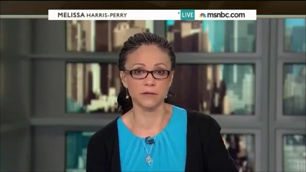 01-04-14 Melissa-Harris Perry Cries During On-Air Apology to Romney Family (for making fun of adopted African American grandson). -- This is the woman, however, who stated that children do not belong to their parents, they belong to society / the government (paraphrase).