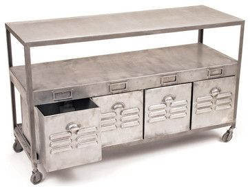 Industrial Mill House Table - industrial - buffets and sideboards - Indeed Decor