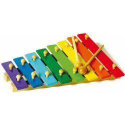Dřevěný xylofon nějaký případně další hudební nástroje, rumba koule nebo tak