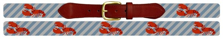 Classic Lobster Needlepoint Belt | NeedlePaint #NeedlepointBelt